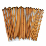 "Celine lin 18 sizes(32PCS) 13.5inch""(34CM)Carbonised Bamboo Single Pointed Knitting Needles"