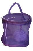 Dafi© Purple Yarn Case, Yarn Storage Basket, Knitting Yarn Round Plastic Bag for On-the-go-knitter and Travelling
