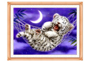 Cross Stitch Kit, Baby Tiger 46x37cm. DIY Needlework Handmade Embroidery Home Room Decor