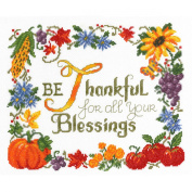 Thankful Counted Cross Stitch Kit-25cm x 30cm 14 Count