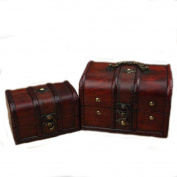 Chinese Traditional Style Wooden Jewellery Box Set