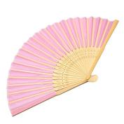 Wedding Favours Handmade Silk Fold hand Fan in Elegant Gift Box by 24/7 store