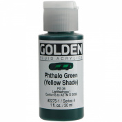 Brand New Golden Fluid Acrylic Paint 30ml-Phthalo Green - Yellow Shade Brand New