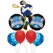 Lacrosse Themed Jumbo Mylar Balloon Bouquet