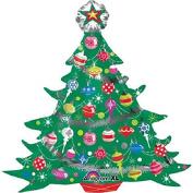 XL 90cm Decorated Christmas Tree Mylar Foil Balloon Super Shape Party Decoration