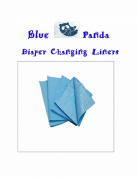 Blue Panda Nappy Changing Station Liners 50ct Blue 4 Ply