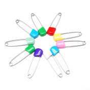 10 Pcs Multi-colour Baby Child Infant Kids Plastic Head Cloth Nappy Nappy Pins Safety Safe Hold Clip Locking Cloth