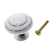 MMRM Round Ceramic Drawer Knob Cabinet Shutters Cupboard Pull Handle