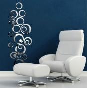 New Modern Circles Mirror Removable Decal Vinyl Art Wall Sticker Home Decor