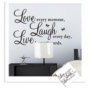 Quote Word Decal Vinyl Home Room Decor Art DIY Wall Stickers Bedroom Removable