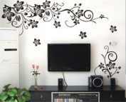 Butterfly and Flower DIY Removable Vinyl Decal Art Mural Home Decor Wall Sticker