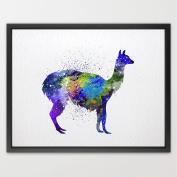 8X10 Alpaca Llama Watercolour illustration Art Print Nursery Kids Art Print Wedding Gift Birthday Gift Fantasy Art Baby Shower Animal print N247