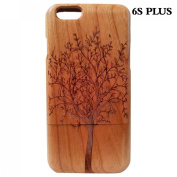 Superior Wooden 100% Iphone6s Plus Wood Case Laser Engraving Trees,wood Case for Iphone6s Plus,iphone6s Plus Cases,case Iphone6s Plus,natural Wood Design Hard Back Skin Cover Shell for Iphone6s Plus