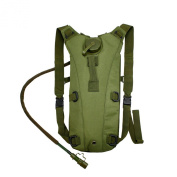 2L Hydration System Climbing Survival Hiking Pouch Backpack Bladder Water Bag - Green