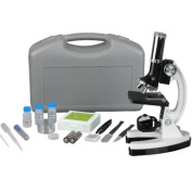 AmScope M30-ABS-KT1-W 300X-600X-1200X 48Pc Metal Arm Educational Beginner Biological Microscope Kit