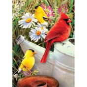 Mini Paint By Number Kit 13cm x 18cm -Garden Birds