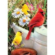 Mini Paint By Number Kit 13cm x 18cm -Garden Birds