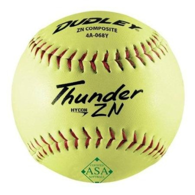 Softballs With Composite Cover - Thunder ZN By Dudley - One Dozen