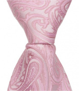 Matching Tie Guy 2612 P3 - 15cm . Newborn Zipper Necktie - Pink Paisley