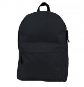 Harvest LM192 Black 46cm . Basic Backpack School Bag Day Pack & Book Bag