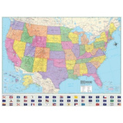 Universal Map 29182 US Advanced Political Rolled Map - Laminated