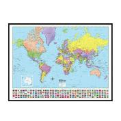 Universal Map 16175 World Advanced Political Mounted & Black Framed Map
