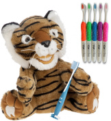 Kids Tiger Educational Plush & Toothbrushes (5 Pack)