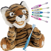 Kids Tiger Educational Plush & Toothbrushes (5 Pack)