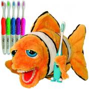 Kids Clownfish Educational Plush & Toothbrushes (5 Pack)
