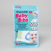 RGP 80226 6 Count Disposable Baby Bibs - Pack Of 24