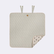 Ferm Living KIDS 8120 Cross Changing Blanket - Grey - 80 x 80 cm.