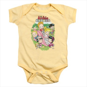 Archie Babies-Time To Play - Infant Snapsuit Soft Yellow - Small 6 Mos