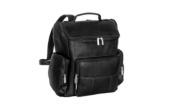 David King & amp; Co 334B Multi Pocket Backpack- Black