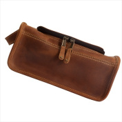 Canyon Outback Leather CS449-26 Taylor Falls Leather Toiletry Bag Distressed Tan