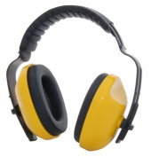 Zenport EM106-10PK Adjustable Headband Ear Muffs Yellow Box of 10