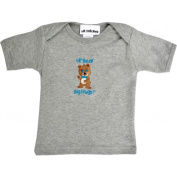 Lil Cub Hub 4CSSTBBG-1218 Grey Short Sleeve T-Shirt - Boy Bear 12-18 months
