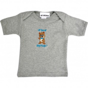 Lil Cub Hub 4CSSTBBG-1218 Grey Short Sleeve T-Shirt - Boy Bear 12-18 months