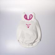Little Ashkim BGBRRBS912 Balloon Ribbon & Ruffle Bodysuit - White 9- 12 months
