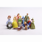 12pcs/set New Sofia the first Figure Toys Princess Sofia 3-6.5cm PVC Doll Gift For kids toys
