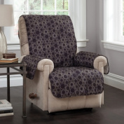 Jefferey Fabrics 9002RECL Circles Wing Chair or Recliner Protector - Black