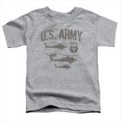 Army-Airborne - Short Sleeve Toddler Tee Heather - Medium 3T