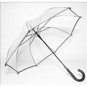 Elite Rain Frankford RAC-BLK Auto-Open Clear Umbrella Black