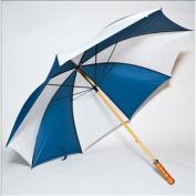 Elite Rain Frankford 2988WS-NW Wooden Shaft Golf Umbrella Navy Blue and White