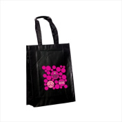 Superbagline QSB74 Black Laminated Tote - Pack of 25