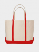 Peerless CAN02L-Red Large Sailing And Boat Tote Bag Red