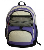 K-Cliffs Backpack With 2 Main Compartments 18 x 33cm x 20cm . Purple & Beige