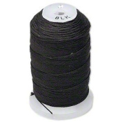 Simply Silk Beading Thread Cord Size FF Black 0.015 Inch 0.38mm Spool 115 Yards for Stringing Weaving Knotting