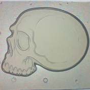 Flexible Resin or Chocolate Mould Skull Side View