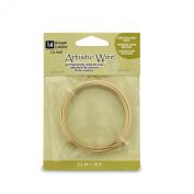Artistic Wire 14 Gauge Wire, Tarn Resist Brass, 3m