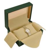 Rolex Style Green Luxury Watch Box - Tan Inside